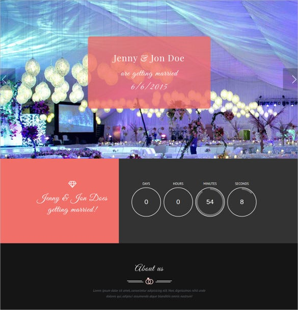 perfect wedding event planner php template
