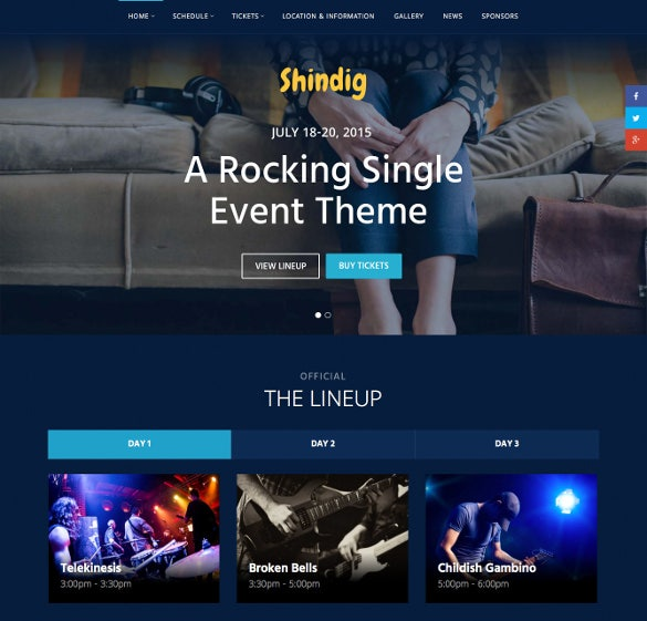rocking single event php theme