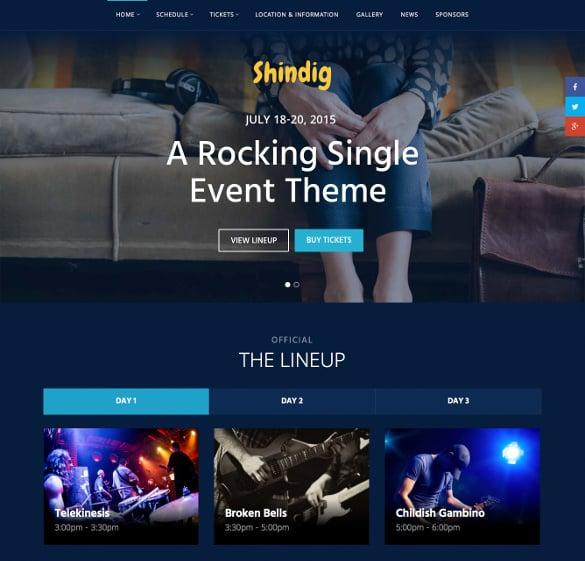 rocking single event php theme