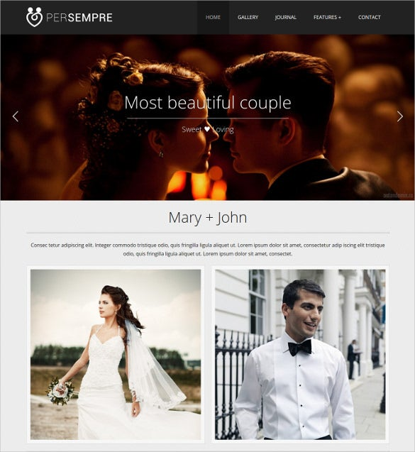 minimal event html5 php template