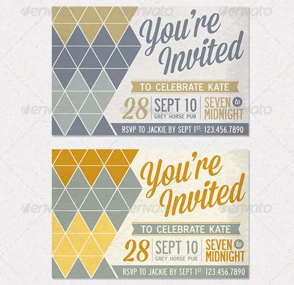 birthday postcard invitation bundle download