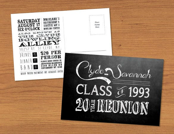 custom designed chalkboard postcard template