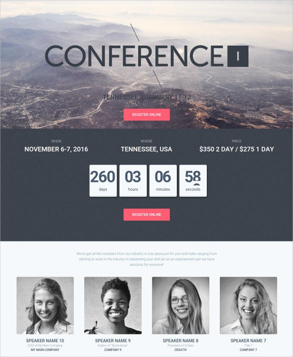 conference wordpress event php theme