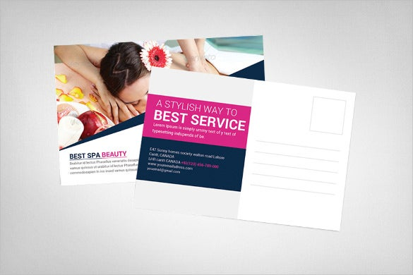 advertising postcard template for spa