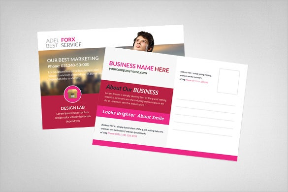 elegant marketing postcard template