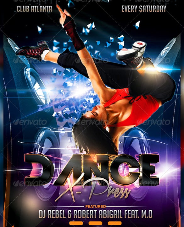 Dance Album Promotion Poster Template PSD Format