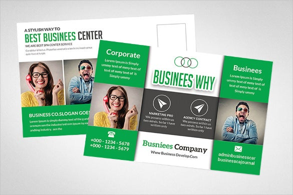 postcard template for marketing