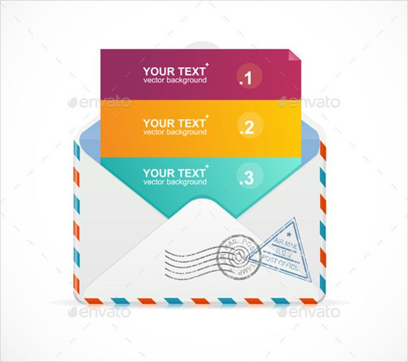 mail postcard template vector eps