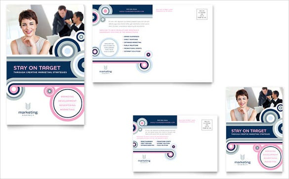 postcard template for marketing agency