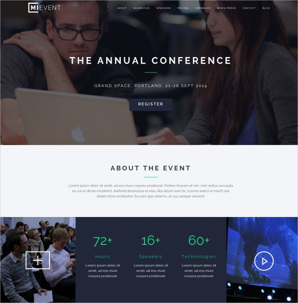 responsive event music wordpress website theme