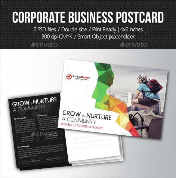 corporate business postcard mailing template