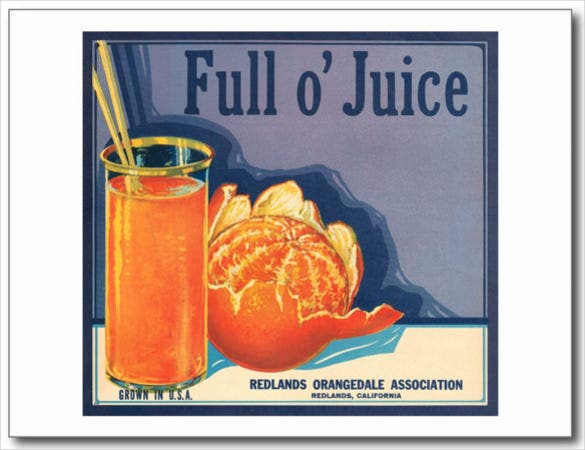 full o juice vintage orange growers advertisement postcard