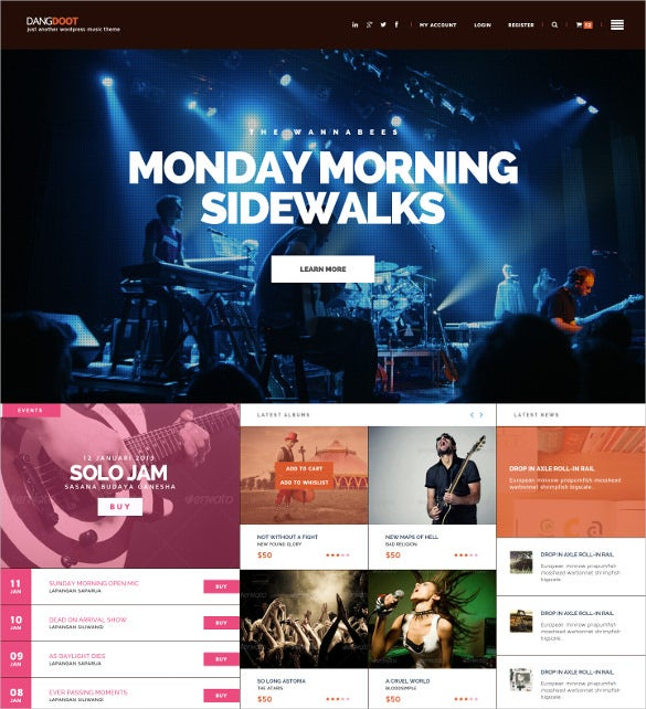 21  event website themes  u0026 templates
