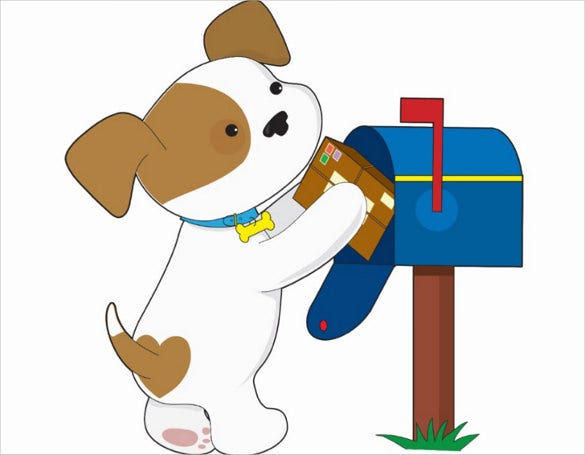 puppy mail postcard template