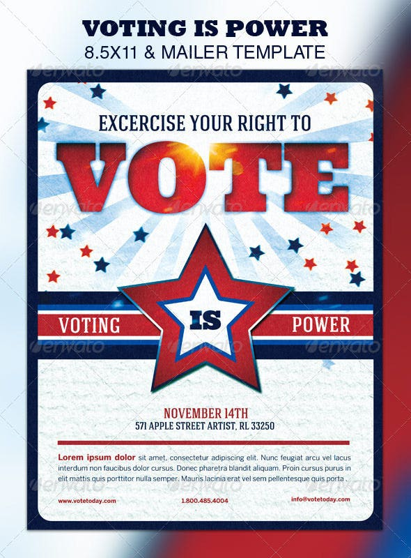 14 political postcard templates free sample example for Voting flyer templates free