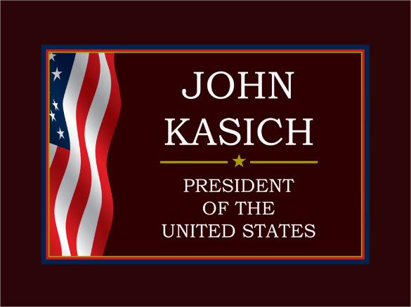 john kasich for president election postcard template