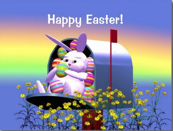 bunny postcard mailing template