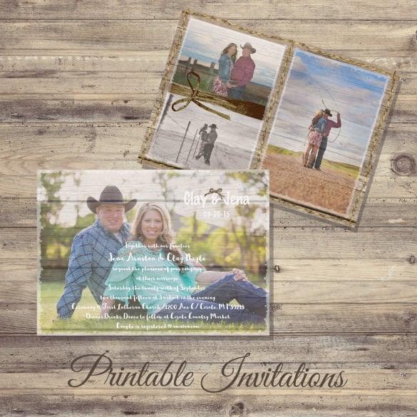 rusticwood wedding invitation