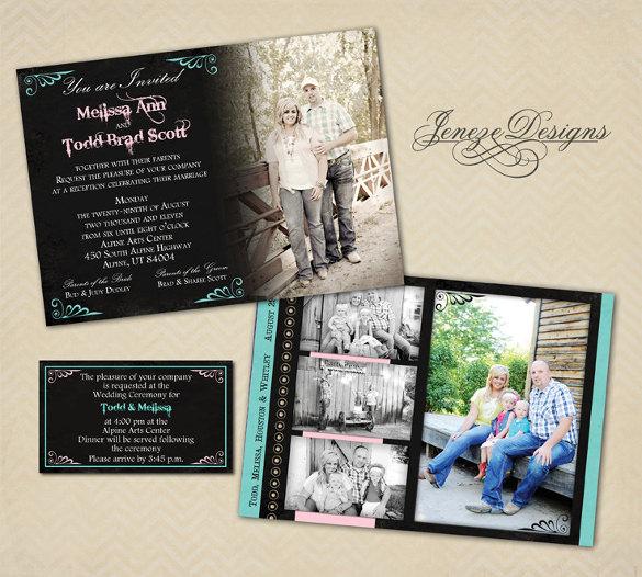 western country wedding invitation