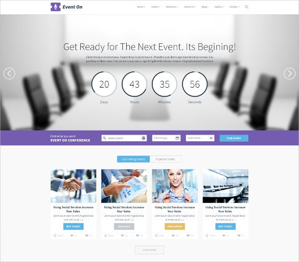 event manager psd theme