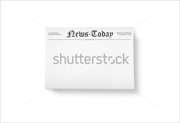 best blank newspaper sample template download