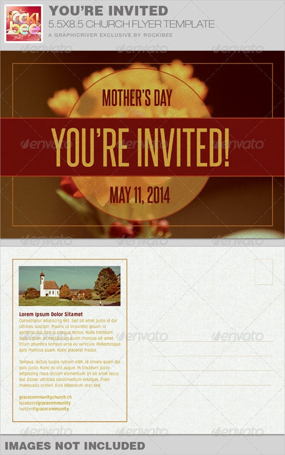 mothers day church postcard