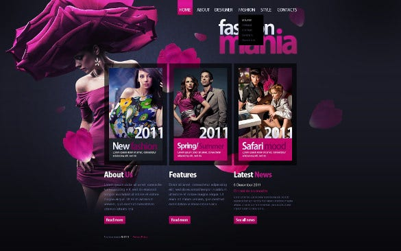 fashion event psd template