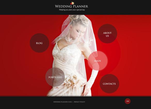 premium wedding planner psd template