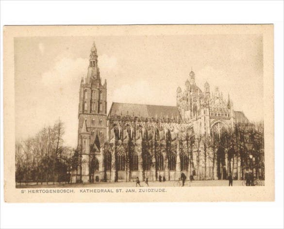 old christian church postcard