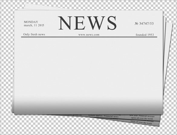 Blank Newspaper Templates  Free Sample Example Format