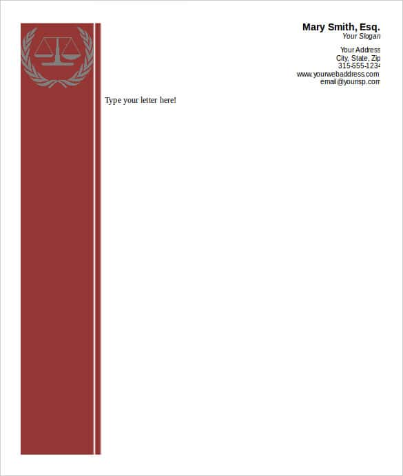 attorney business letterhead word template download min