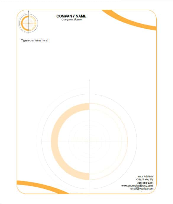 Editable Technical Letterhead Template Word Download  Free Business Letterhead Templates For Word