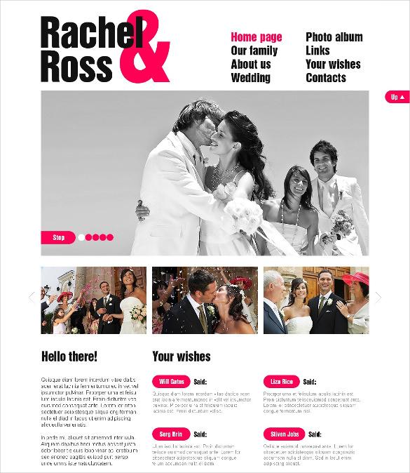 wedding event album psd template