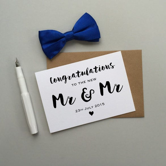 mr mr wedding invitation