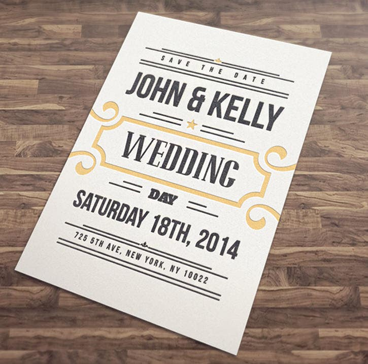 vintage wedding event postcard download