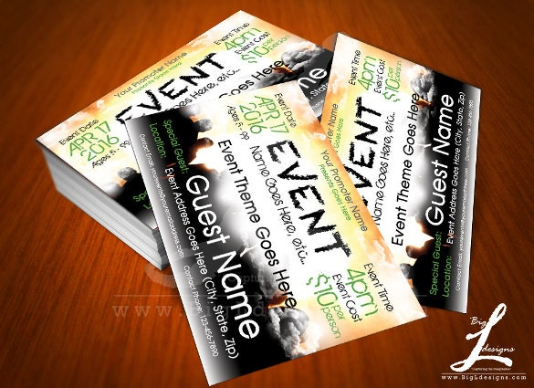 handmade event postcard download template
