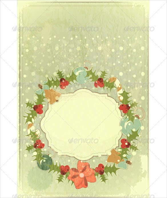 old postcard template for christmas