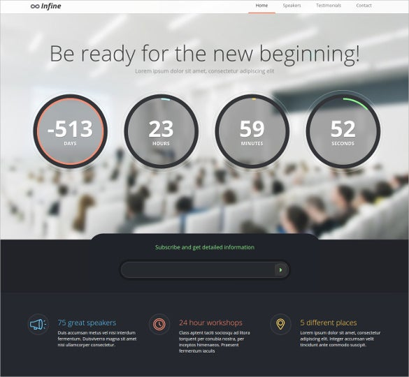 one page bootstrap conference event drupal theme