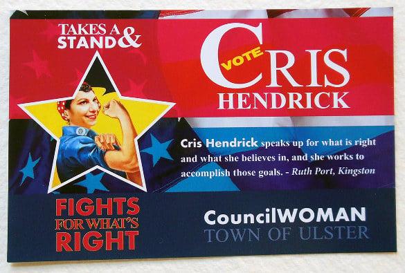 councilwoman political postcard templates download