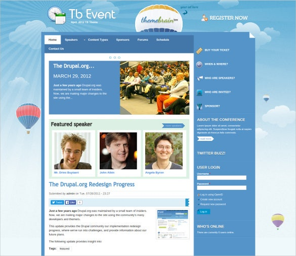free event drupal theme
