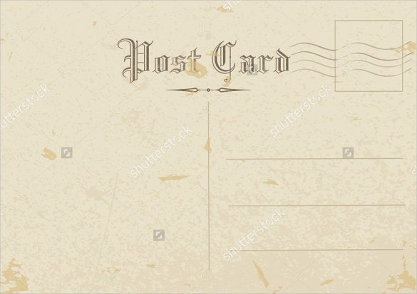 Simple Old Postcard Template
