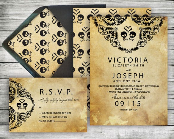 Second Marriage Wedding Invitation 16 PSD JPG Indesign – Halloween Wedding Reception Invitations