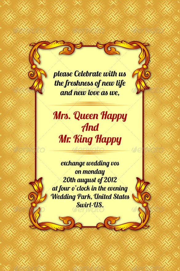 second marriage wedding invitation  psd, jpg, indesign, Wedding invitations
