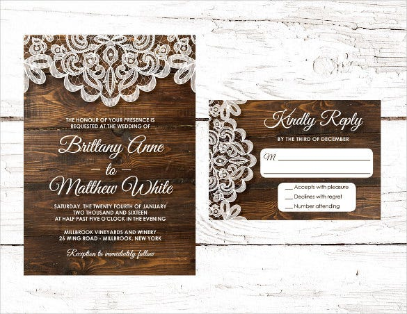 design wood wedding invitation