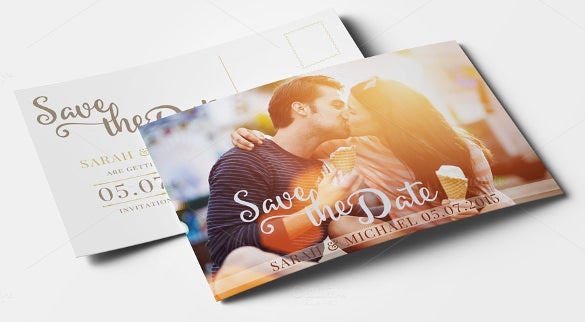 save the date photo postcard template