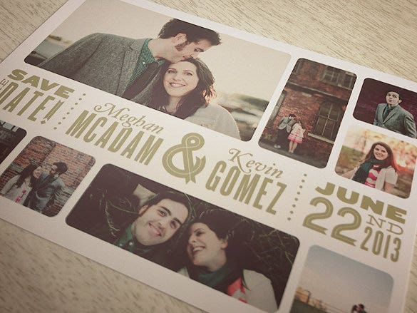 rmantic couple photo postcard template