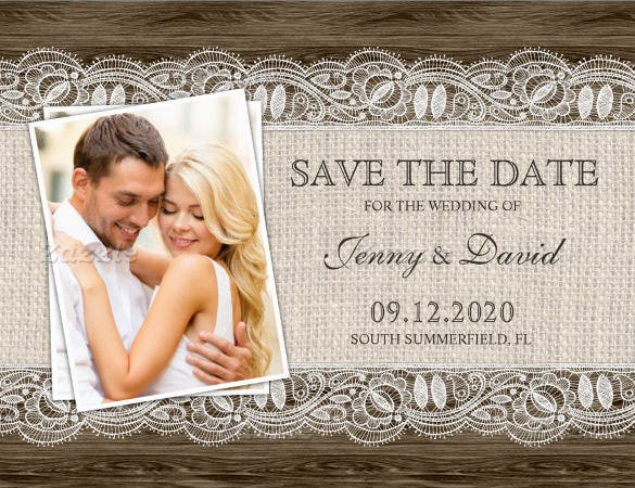 photo save the date postcard template download