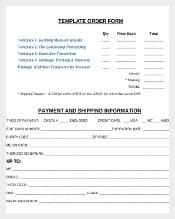Sample Order Form Template Download