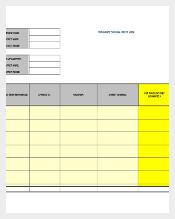 work order spreadsheet