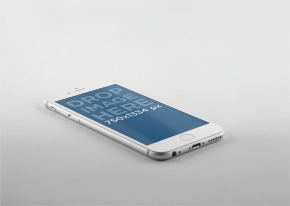 Illustrated iPhone 6 Mockup